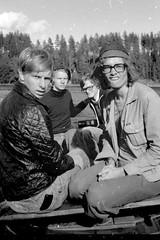 My friends in the boat 1976 (sakarip) Tags: sakarip 1976 vintage bw monochrome film boys karhulanjengi