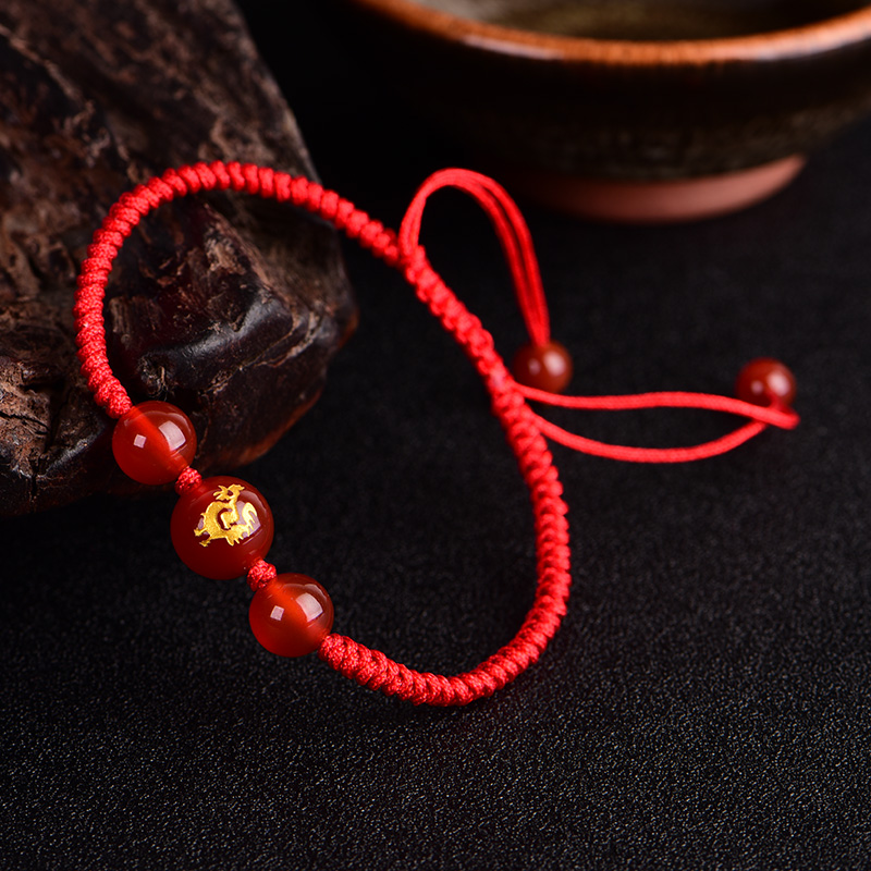 Crystal red string file 2017 year of fate twelve zodiac female bracelet Jewelry Bracelets accessories Taisui transport