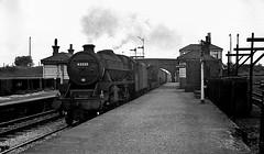 45212, Lostock Hall, July 1968 (Yeovil Town) Tags: britishrailways steamloco black5 45212 lostockhall
