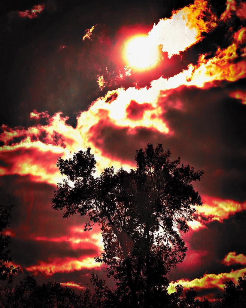 fiery glow burning sunset - photo #19