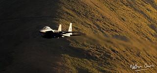 USAF Boeing F-15E Strike Eagle 01-2004 low level at Hartsop