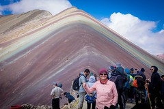 Asungate mountain, also know as rainbow mountain. And loads of tourists!