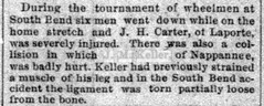 1893 - J M Keller bike race crash - 31 Jul 1893