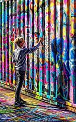 Jeune talent (Edgard.V) Tags: paris parigi laérosol sncf tag street art young jeune jovem giovane peinture painting pintura pittura couleurs colors colori cores