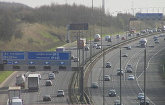 A1 South at Aberford (J_Piks) Tags: a1 a1m motorway aberford road