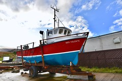 Deo Volente - Boddam Harbour Peterhead Aberdeenshire Scotland 2017 (DanoAberdeen) Tags: boddamharbour deovolente danoaberdeen dano danophotography candid amateur 2017 recent aberdeen harbour grampian boddam buchan buchanhaven nikon nikkor nikond750 scotland scottishhighlands geotagged seafarers northeastscotland psv wss shipspotters aberdeenshire tugboat shipspotting boats vessels tug autumn winter spring summer ecosse scotia schotland escotia peterhead nimbus clouds bluesky