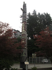 Totem pole... (Railroad Rat) Tags: british colubia canada province moniker graffiti markal art culture freight railroad cn north west sea side weed old growth swampy rainforest hop hobo jungle catch intermodal 48 bucket caddy steel all colours beautiful ramble