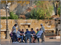 "Old Players (/RealityScanner/) Tags: italien italy cilento travel reise autumn herbst mediterranean panasonic lumix gx80 street streetphotography player spieler santa maria"" castellabate stadt town"