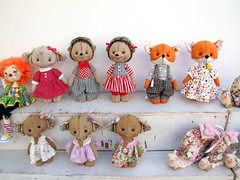 My mother's market stall (SkyWookiee) Tags: telaviv israel street nachalatbenyamin toy textile handmade sewing animals doll craft crafts