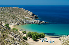 Psili Ammos beach, Patmos, Greece (RomanK.) Tags: greece patmos psiliammos beach ellada ellas sea greek