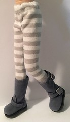 Gray And White Striped Tights...For Blythe...