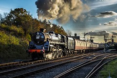 No.73082 'Camelot' in the afternoon sun (Tony Teague (Slowcomo)) Tags: brmk1stock bluebellrailway canoneos5dmkiv jonbowerscharter no73082camelot sussex bloodcustardlivery canonef24105mmf4lisusmlens preservedrailway heritagerailway steamrailway steamlocomotive tonyteague