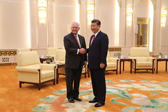 Secretary Tillerson Meets With Chinese President Xi Jinping (U.S. Department of State) Tags: rextillerson wangyi xijinping beijing china economic security dprk ambassadorterrybranstad