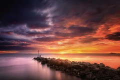 Chasing lights (Anto Camacho) Tags: light landscape nature bigstopper sunset rocks lighthouse sea sunrise valencia perello