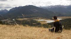 Hillside lookout (self-portrait) (chrisroach) Tags: banff banffnationalpark nationalpark canada portrait selfportrait fall leaves gold yellow hill view
