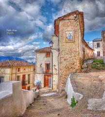 (696/17) Rincón de Planes (Pablo Arias) Tags: pabloarias photoshop photomatix nxd españa cielo nubes arquitectura edificio muro iglesia planes alicante