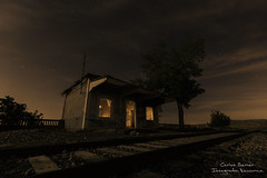 Estacion abandonada (Carlos Server Photography) Tags: abandoned urbex train station nightscapes nightphotography stars clouds lightpainting canon 1635mm nighscapes abandonos estacion trenes toledo spain fotografíanocturna estrellas nubes