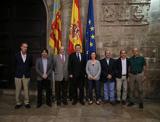 El president Ximo Puig recibe a representantes del I Encuentro de Geólogos de la Comunitat Valenciana 17/10/17