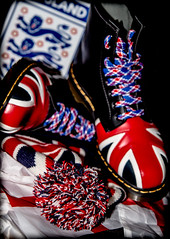 Dr Marten in Color. (CWhatPhotos) Tags: art artistic cwhatphotos photographs photograph pics pictures pic picture image images foto fotos photography that have which contain view canon 5d iii visual dm dms docs dr marten martens boot boots cooldoc airwair yellow stitching color colour colours colors 1460 8 hole iconic union jack flag great briton laces laced lace red blue white redblueandwhite foot wear bobble hat bobbin wool woolen beanie