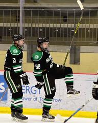 The Goal Celly! (R.A. Killmer) Tags: black green white skate stick puck score breakaway goal net celebrate celebration fast acha slippery rock university 2017