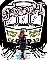 Speedcat Cover rough (Catanas) Tags: speedcat superhero graphic illustration comic indie