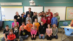 6th grade class at Rothsay Schools