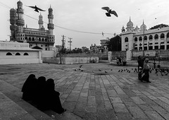 @ Mecca Masjid,Hyderabad 2016 (Vijayaraj PS) Tags: architecture mughalarchitecture islam travel meccamasjid hyderabad india asia mosque religion ngc blackandwhite monochrome outdoor pigeons birds southindia indianwomen charminar flickr streetphotography indianstreetphotography