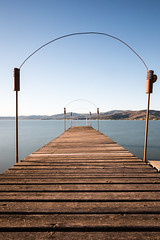Pier (Massimo_Discepoli) Tags: pier lake perspective sky blue nobody trasimeno long umbria
