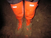 Dirty Hunter Headliner (camilla100) Tags: hunter headliner wellies orange red dirty farmer field