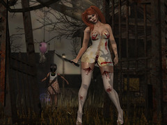 138 (julii.nishi) Tags: halloween socks heels shoes dress outfit blood hair ginger truth wellmade kccouture dark creepy