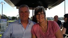 Marianne de Pierres and cousin Simon Drakebrockman