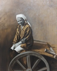 Cart (nomadic homemaker) Tags: art painting oiloncanvas oilpainting oil traditional grisaille realism