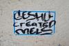 Geshu Created Mels, New York, NY (Robby Virus) Tags: newyork newyorkcity ny nyc manhattan bigapple city created sticker slap mels geshu graffiti tag
