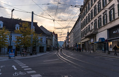 Graz, Annenstrasse (rlubej) Tags: austria graz dusk streets