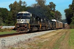 NS 361 (Steve Hardin) Tags: emd sd80mac oostanaula georgia norfolksouthern railway railroad railfan manifest freight train railroadcrossing