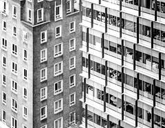 Urban Fold (DobingDesign) Tags: offices bluefinbuilding windows lines geometric modular square rectangles angles diagonals shadow cubic londonarchitecture london city pattern repeatingpattern repetitive cladding brickwork texture architecture buildings nextdoorneighbours building
