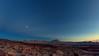 Puesta de Sol con Luna / Sunset with Moon (López Pablo) Tags: sunset moon blue lascañadas tenerife canaryislands spain nikon d90 lava nature