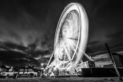 Ferris wheel in Sunderland (Millerc1980) Tags: amusementpark artscultureandentertainment ferriswheel sky amusementparkride longexposure outdoors lowangleview bigwheel motion nopeople day longshutter eyeembestshots northeast theweekoneyeem blackandwhite sunderland nikon nikonphotographer nikonphotography blackwhite blacknwhite blackandwhitephotography