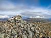 The summit cairn on Carn Mairg, Schiehallion to the right (David McSporran) Tags: carngorm meallgarbh carnmairg meallnaaighean glenlyon northchesthillestate munro munros scottishhighlands scotland scottishmountains hillwalking
