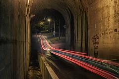 DSC1797_8stack (superdavebrem77) Tags: longexposure lighttrails hunterstreet liftlock peterborough ontario night lowlight sony tunnel