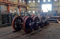 Loco wheelsets, Durango workshop IMG_5307 Durango & Silverton RR (Recliner) Tags: baldwin dsng drg