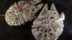 10179 vs 75192 03 (YgrekLego) Tags: ucs millenium falcon lego 10179 75192 comparison falke spaceship star wars epic lights gino lohse ygreklego