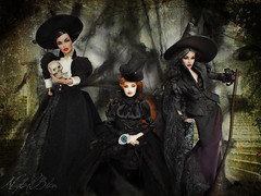 Family Portrait for the last days of the witches (NylonBleu) Tags: fashion royalty dolls nylonbleu witches sorcières halloween