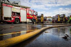 Fire crews on site