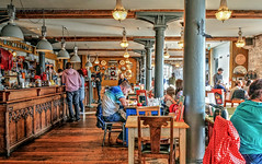 Lunchtime (PAUL YORKE-DUNNE) Tags: people bar food hdr sony rwy royalwilliamyard plymouth secolounge