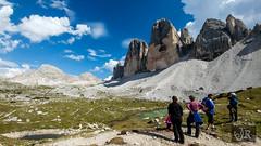 Tre Cime, Italy (richárdjánosi) Tags: italy mountain alps olaszország italia mobile lgg5 trip lg landscape nature rock people sky