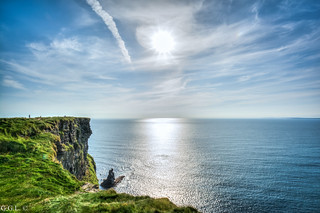 Cliffs of Moher. County Clare. End of the day.
