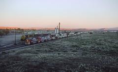 A Santa Fe westbound Intermodal at Thoreau, NM Just After Sunset (railfan 44) Tags: santafe atsf