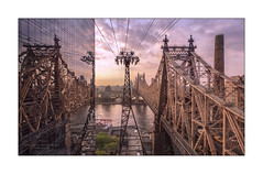 An Early Morning Tram Ride (Nico Geerlings) Tags: bridge river island reflection reflections cablecar tramway rooseveltisland newyorkcity nyc ny usa midtown manhattan queens longislandcity commuters queensborobridge dawn earlymorning ngimages nicogeerlings nicogeerlingsphotography