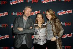 Charlie Brooker (Creator), Jodie Foster (director, moderator), Annabel Jones (Exc. Producer) (An Englishman In San Diego) Tags: gpr nycc2017blackmirror newyork ny